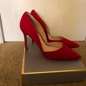 Louise et Cie red suede shoes